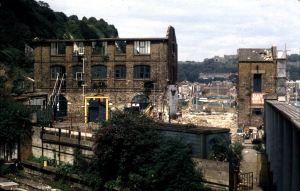 Packet Yard, Snargate Street during demolition in 1991-92. Dover Museum
