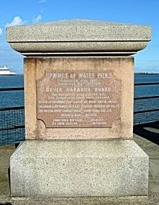 Commerative memorial for the completion of the Prince of Wales Pier 31 May 1902 where the viaduct meets the solid Pier. AS 2015