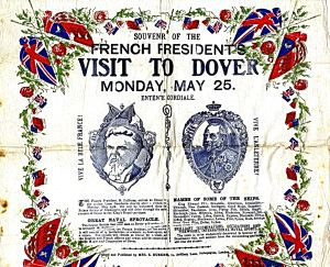 French President Fallière visit 25 May 1908. Dover Museum