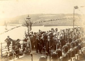 French President Loubet arriving at Prince of Wales Pier July 1903. Dover Museum
