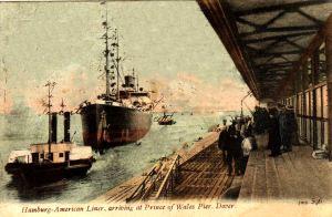 Hamburg-Amerika Line ship arriving at the Prince of Wales Pier. John Alsop