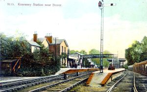 Kearsney Station c1900. Eveline Larder