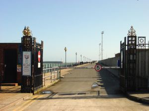 The entrance to the Prince of Wales Pier before it was close on 1 October 2015. Alan Sencicle