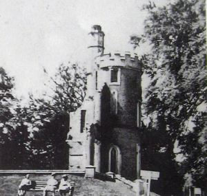 Remains of Kearsney Abbey's east wing after the partial demolition. Tom Robinson