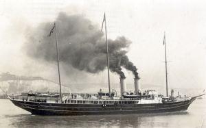 Royal yacht Alexandra circa1905. Dover Museum