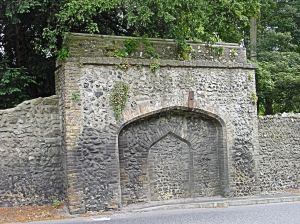 The remains of Kearsney Abbey Wall, Alkham Valley Road now had English Heritage Grade 2 listing. Alan Sencicle