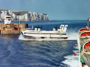 Hovercraft Princess Margaret coming through the Eastern Entrance 1971. Alan Sencicle