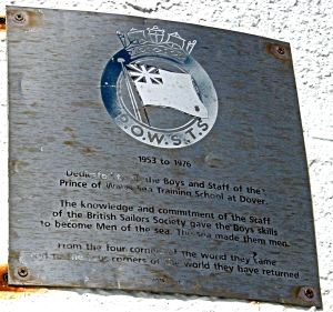 Prince of Wales Sea Training School Plaque on the lighthouse at the head of the Prince of Wales Pier. Alan Sencicle