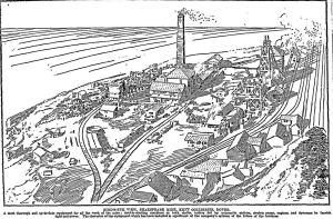 Shakespeare Colliery owned by Kent Collieries on the front page of the Times supplement 24 April 1912