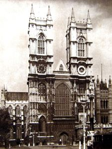 Westminster Abbey c1920s. Evelyn Larder Collection