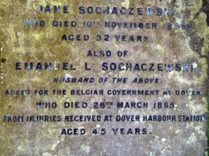 Emanuel Sochazewski on 26 March died from injuries received after falling between carriages at Harbour Station and was buried in Cowgate Cemetery - AS 2012