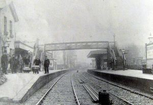 Kearsney Railway Station c1870. John Sulby