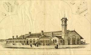 London, Chatham and Dover Railway Harbour Station designed by J R Jobbins 1860. Dover Museum