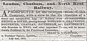 London, Chatham and North Kent Railway 14.10.1845