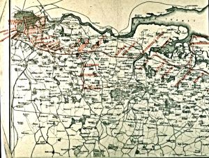 Map of the London, Chatham & Dover Railway Metropolitan Extension - Eastern Section C1865. Dover Museum