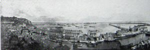 Admiralty Harbour panoramic view c1906 believed to be taken by Charles Harris, photographer