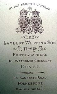 Lambert Weston 18 Waterloo Crescent. David Iron Collection