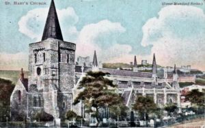 St Mary's Church by Martin Jacolette following demolition of neighbouring properties.
