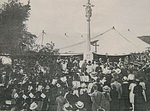 Unveiling of the Shepway Cross 04 August 1923. Dover Library