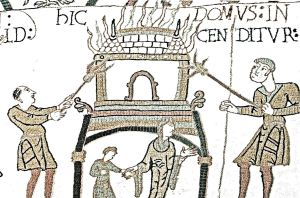 The Burning of Dover, Bayeaux Tapestry. Dover Museum
