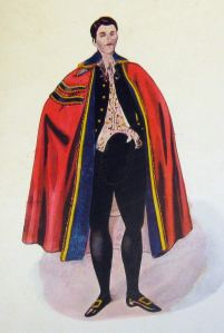 Baron of the Cinque Ports Costume worn by Wollaston Knocker at the coronation of Edward VII 1902. Dover Library