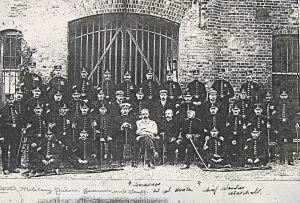Broadlees Military Prison, Langdon Cliff, Governor and Staff. Dover Library