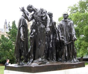 Calais Burghers by Auguste Rodin ( 1840–1917) London. LS 2010