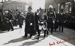 Field Marshall Lord Frederick Roberts (1832-1914) being given the Honorary Freedom of Dover 28 August 1902. Dover Museum