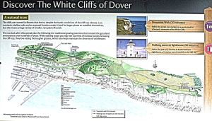 Langdon Cliffs - Visitor map.