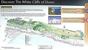 Langdon Cliffs - Visitor map.