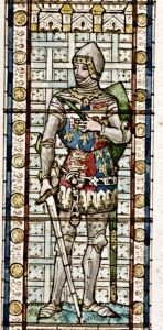 Lord Warden Edmund Langley - Edward Astley window, Connaught Hall design by H W Lonsdale 1892. Dover Museum