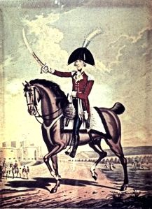 The Lord Warden of the Cinque Ports,William Pitt the Younger (1759-1806), whose niece, Lady Hester Stanhope, (1776-1839) acting as deputy, set up the Cinque Ports Fencibles or Volunteers. The 1805 painting shows, the Lord Warden in his full dress uniform. Dover Museum