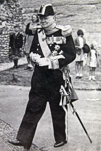 Sir Winston Churchill installed as the Lord Warden of the Cinque Ports in 1946. Dover Express
