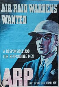 World War II Air Raid Warden Poster