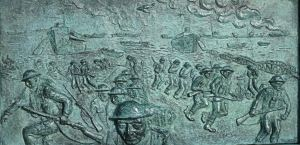 D-Day Landings June 1944 from the base of Admiral Bertram Ramsay statue at Dover Castle. Alan Sencicle