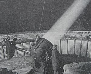 Manning serchlights against enemy aircraft. Government pamphlet c1940. Doyle Collection