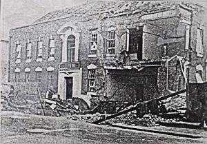 Police Station, Park Street, November 1940 after a bombing raid. Kent Police