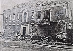Police Station, Park Street, November 1940 after a bombing raid. Kent Police