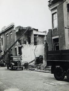 Post Office, Priory Street, shelled on 28 June 1943 killing Walter Garrett, George Kerry and John Parfitt. Kent Messenger.