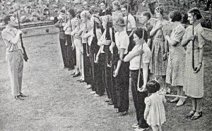 Womens' Voluntary Defence Corps in training. From a British Government leaflet. Doyle Collection