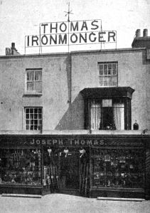 Thomas' Ironmongers 84-86 London Road for a awhile the HQ of the Dover Home Guard during World War II. Dover Museum