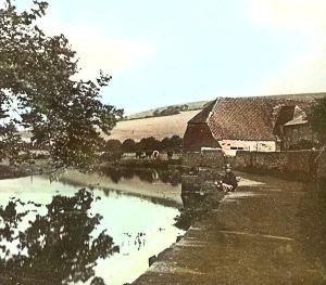 Barton Farm on the River Dour, glass slide not dated. Dover Museum