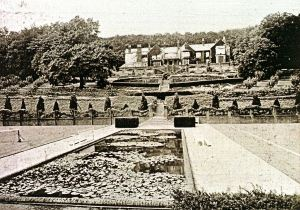Kearsney Court showing the formal garden designed by Thomas Mawson. Dover Museum