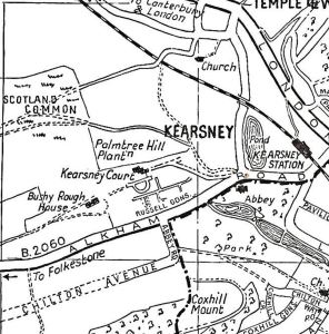 Location of Kearsney Court and Russell Gardens Kearsney circa1960s