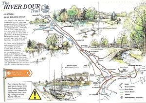 White Cliffs Countryside River Dour Path Trail map. White Cliffs Countryside Partnership