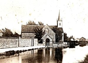 SS Peter & Paul old Church, Charlton by the River Dour 1893 before demolition. Fr Colin Johnson
