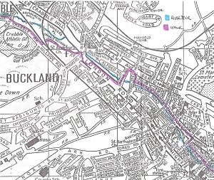 Dour Walk - Buckland, Barton & Charlton Map Service Publications c1990
