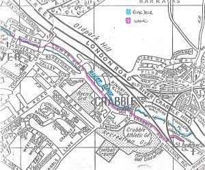 Dour Walk - Crabble Map Service Publications c1990