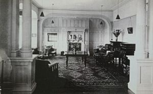 Kearsney Court lounge when a nursing Home c1930s. Harding Family