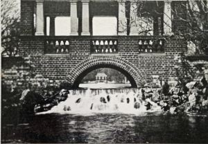 Lower Pagola Bridge with cascade 1903 - Harding Family